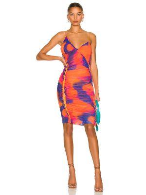 Трикотажное платье - оранжевое H:ours