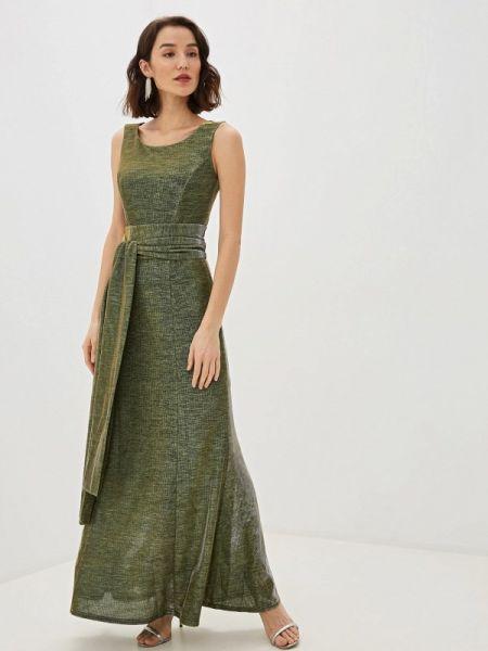 Вечернее платье осеннее зеленый Pavesa
