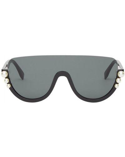 Солнцезащитные очки с жемчугом с логотипом Fendi