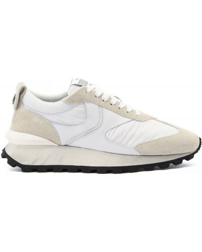 Кожаные белые кроссовки на шнуровке Voile Blanche