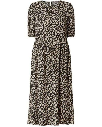 Czarna sukienka mini rozkloszowana z falbanami Jake*s Collection