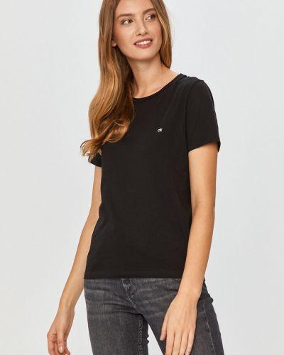 Czarny top bawełniany na co dzień Calvin Klein