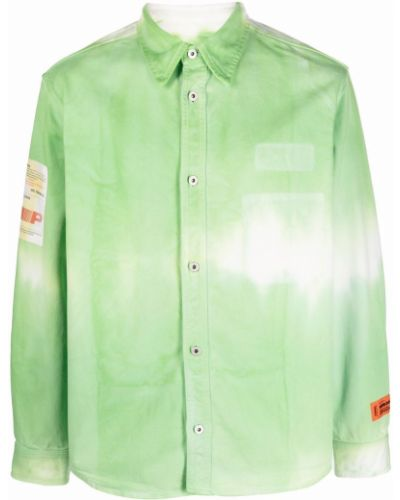 Klasyczna koszula - zielona Heron Preston