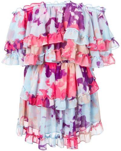 Платье с цветочным принтом плиссированное Misa Los Angeles