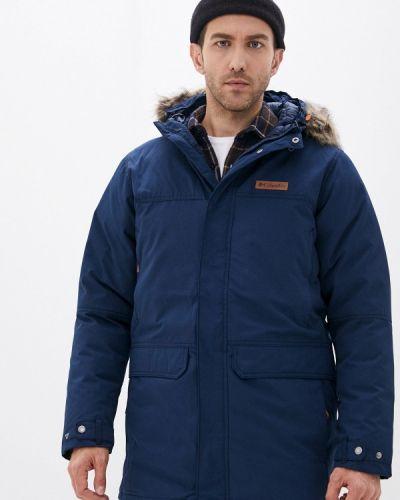 Утепленная синяя куртка Columbia