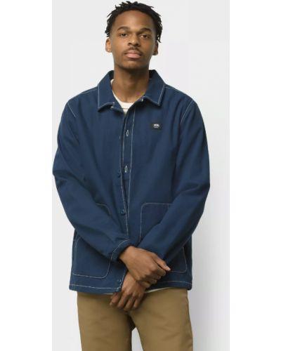 Голубая хлопковая куртка Vans
