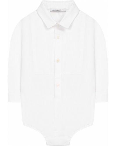 Белое боди Dolce & Gabbana