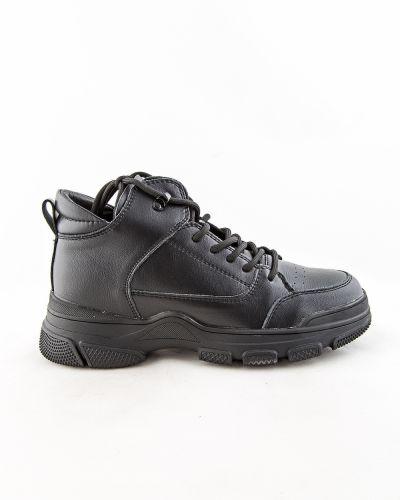 Черные ботинки из кожзаменителя Prima D'arte