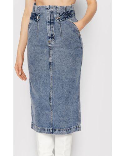 Niebieska spódnica jeansowa Remain