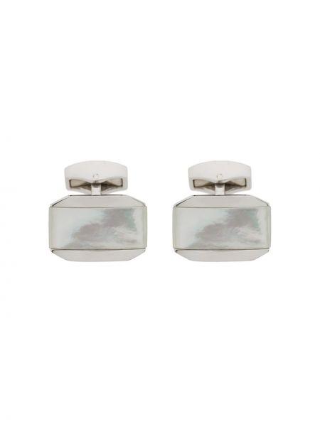 Запонки из серебра серебряный Tateossian