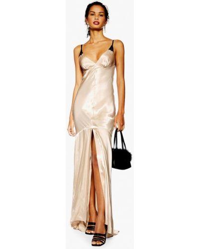 Вечернее платье весеннее бежевое Topshop