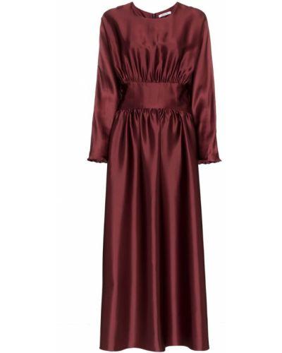 Плиссированное приталенное платье миди Deitas