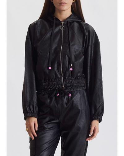 Кожаная куртка с логотипом - черная J.b4 (justbefore)