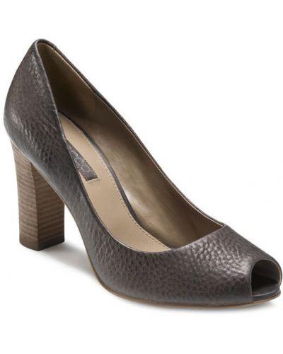 Туфли на каблуке кожаные на высоком каблуке Ecco