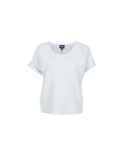 Голубая свободная футболка Armani Jeans