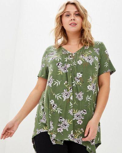 Блузка - зеленая Evans