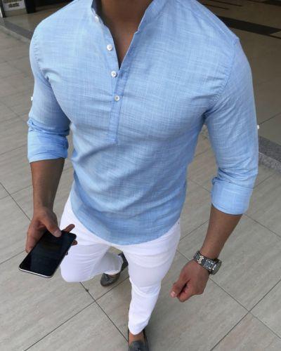 Льняная рубашка Fashion Man