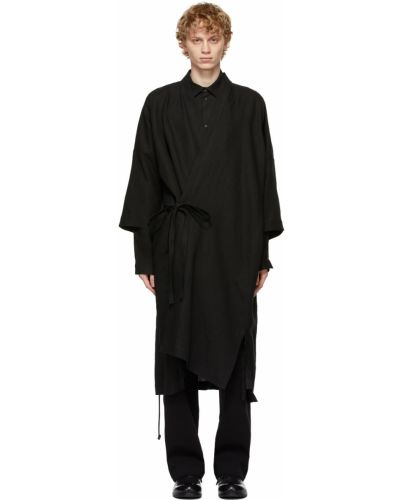 Czarny szlafrok kimona Jan-jan Van Essche