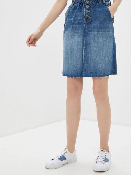 Джинсовая юбка синяя весенняя Blendshe