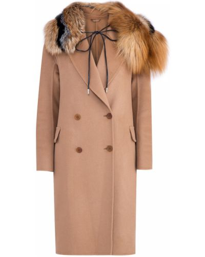 Пальто из ангоры шерстяное Ermanno Scervino