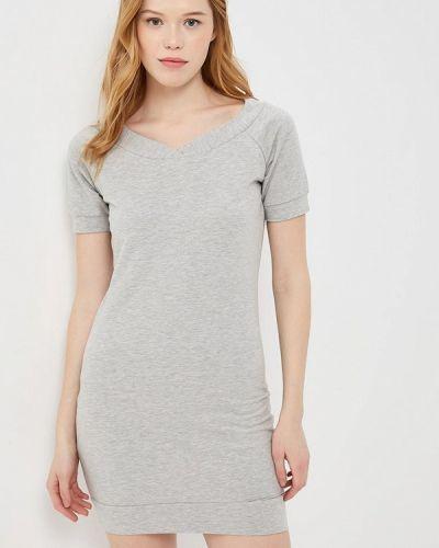 Серое платье Met