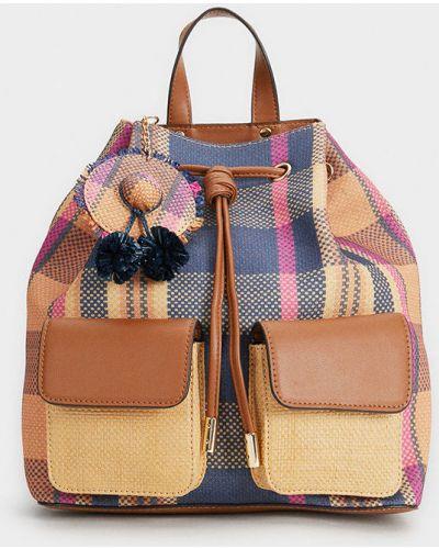 Plecak z obrazem prążkowany Parfois