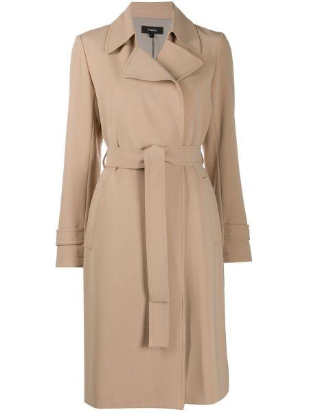 Пальто с запахом пальто-тренч Theory