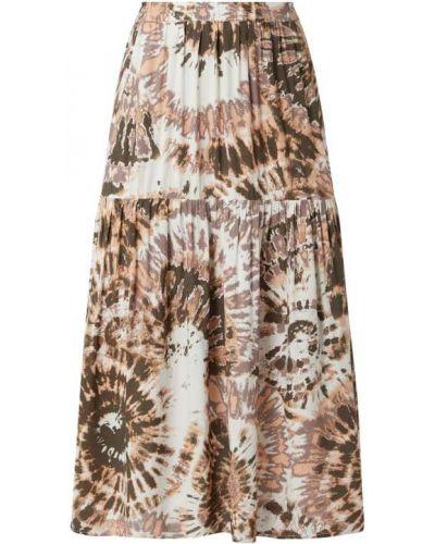 Biała długa spódnica z falbanami z wiskozy Saint Tropez
