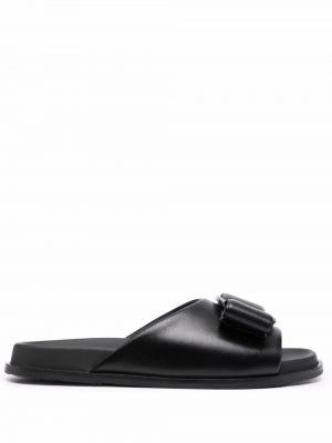 Кожаные сандалии - черные Salvatore Ferragamo