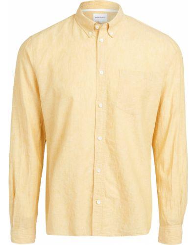 Żółta koszula bawełniana z długimi rękawami Norse Projects
