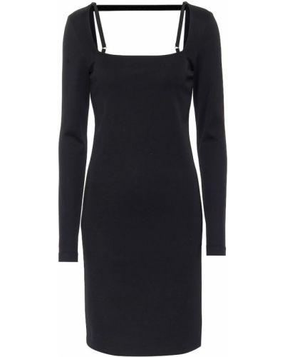 Трикотажное платье миди - черное Helmut Lang