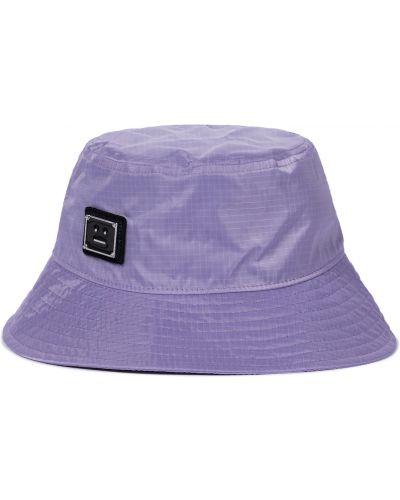 Фиолетовая шапка винтажная металлическая Acne Studios