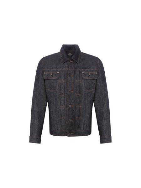 Хлопковая прямая черная джинсовая куртка прозрачная Harley Davidson