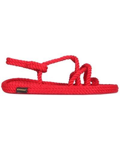 Czerwone sandały Bohonomad