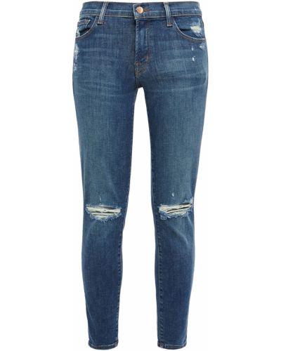 Джинсовые зауженные джинсы - синие J Brand
