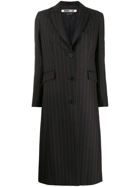 Шерстяное черное длинное пальто Mcq Alexander Mcqueen