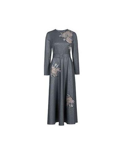 Серое платье из вискозы Vuall