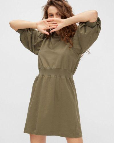 Прямое зеленое платье Noisy May