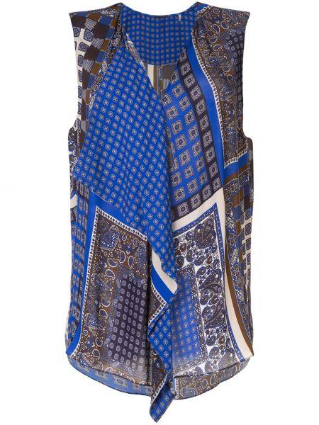 Niebieski top bez rękawów z wiskozy Elie Tahari