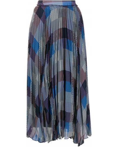 Ажурная фиолетовая асимметричная юбка макси Frenken