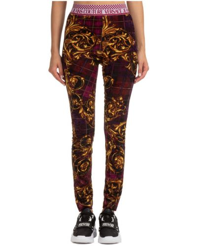 Fioletowe legginsy Versace Jeans Couture