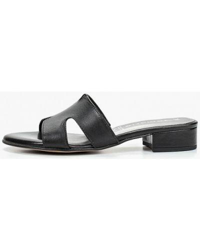Сабо кожаные черные Tamaris