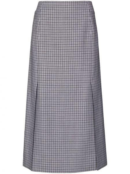 Jedwab czarny spódnica midi Givenchy