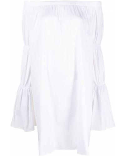 Открытое шелковое белое платье миди Federica Tosi