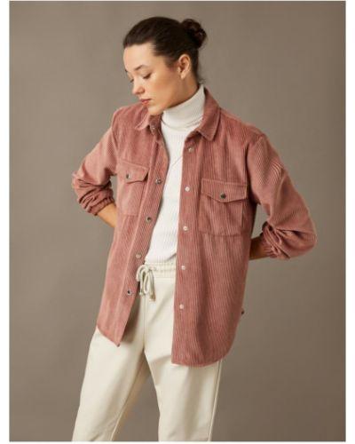 Różowa koszula sztruksowa Koton
