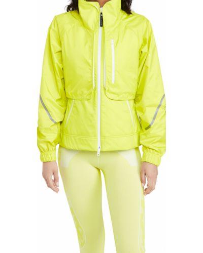 Желтая куртка с воротником с карманами Adidas By Stella Mccartney