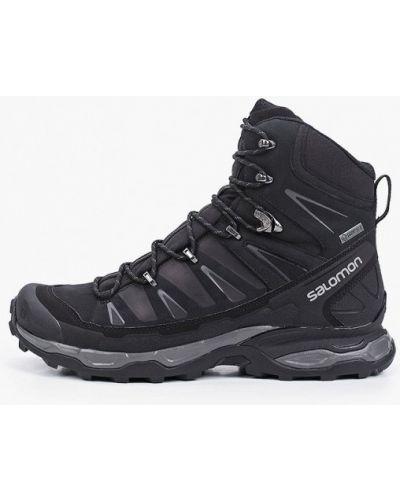 Кожаные ботинки трекинговые - черные Salomon