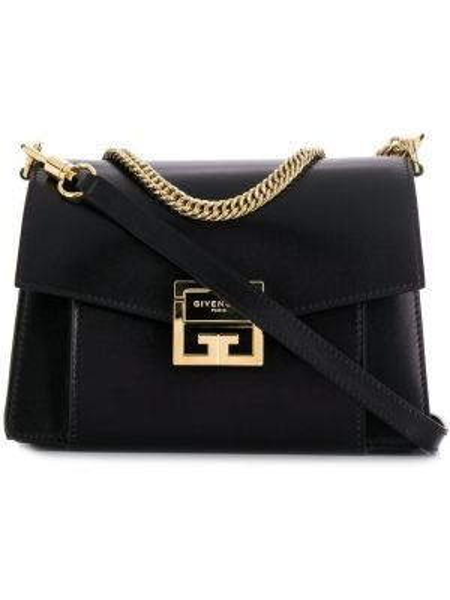 Кожаная черная маленькая сумка с карманами Givenchy