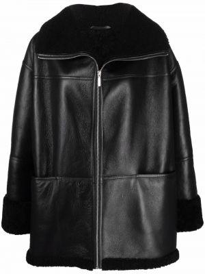 Черная куртка из овчины Toteme
