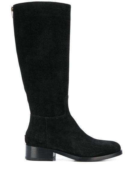 Ботинки на каблуке черные без каблука Vittorio Virgili
